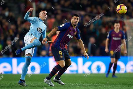 Luis Suarez of FC Barcelona and Iago Aspas of Celta de Vigo