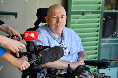 Prime Minister Scott Morrison's brother-in-law Gary Warren, who is a Multiple Sclerosis (MS) sufferer, speaks to the press during a media event in Sydney, Australia, 23 December 2018. Thousands of Australians with multiple sclerosis will save more than 35,000 US dollar a year with the listing of a new medicine on the Pharmaceutical Benefits Scheme in Australia.