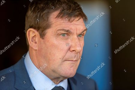 Tommy Wright, manager of St Johnstone FC speaking to the media before the Ladbrokes Scottish Premiership match between St Johnstone FC and Rangers FC at McDiarmid Park, Perth