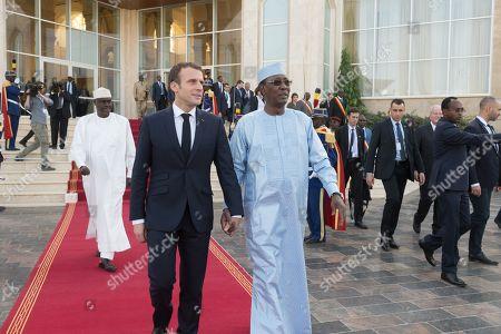Emmanuel Macron and Idriss Deby