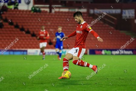 Zeki Fryers (03) of Barnsley on the ball