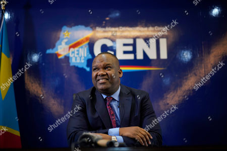 Corneille Nangaa, the president of the independent electoral commission (CENI), speaks to reporters in Kinshasa, Democratic Republic of the Congo. Presidential elections scheduled for Dec. 23 was postposed to Sunday Dec. 30