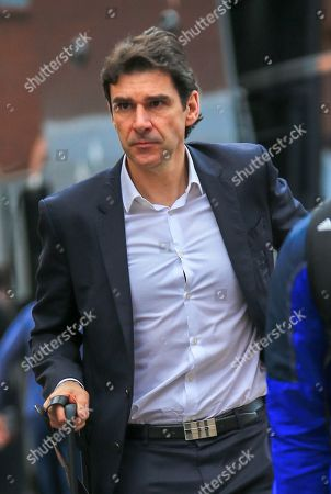 Aitor Karanka manager of Nottingham Forrest arriving for the game at the City Ground