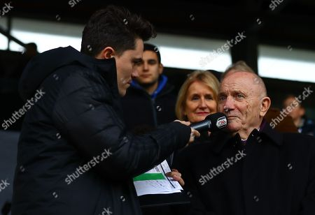 George Cohen MBE is interviewed at half time