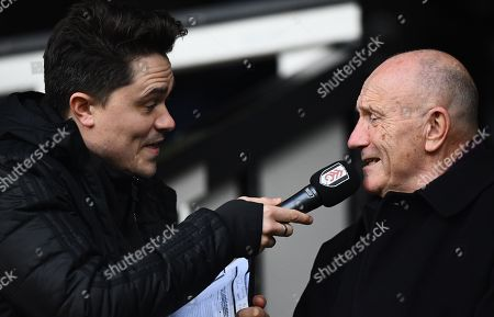 George Cohen is interviewed at half time