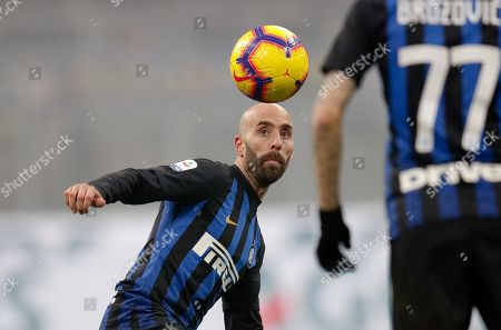 Inter's Borja Valero in action during the Italian Serie A soccer match between FC Inter and SSC Napoli at Giuseppe Meazza stadium in Milan, Italy, 26 December 2018.