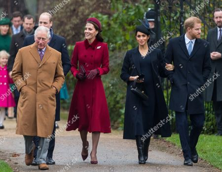 Prince Charles, Catherine Duchess of Cambridge, Meghan Duchess of Sussex and Prince Harry