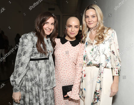Lena Dunham, from left, Angela Trimbur and Brittany Perrineau