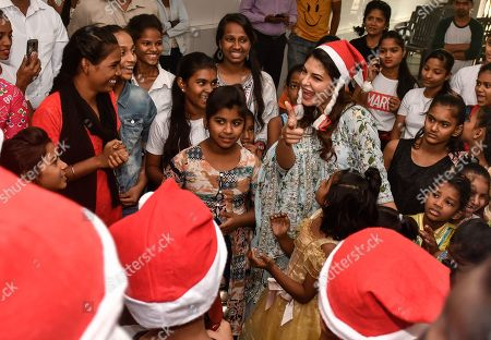 Editorial photo of Jacqueline Fernandez Christmas Celebration, Mumbai, India - 26 Dec 2018