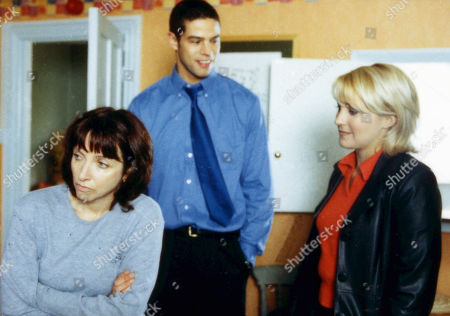 Ep 2701 Thursday 1st June 2000 Kathy confronts Sarah about her affair with Ritchie, feeling she is utterly selfish, she sacks her - With Richie Carter, as played by Glenn Lamont ; Sarah Sugden, as played by Alyson Spiro ; Kathy Glover, as played by Malandra Burrows.