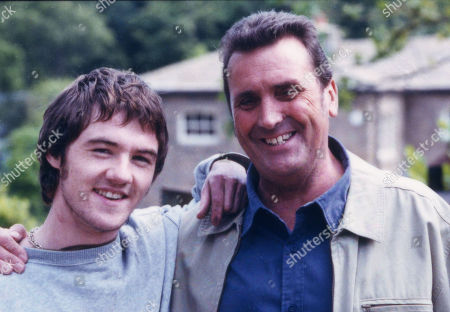 Stock Image of Ned Glover, as played by Johnny Leeze ; and Roy Glover, as played by Nicky Evans
