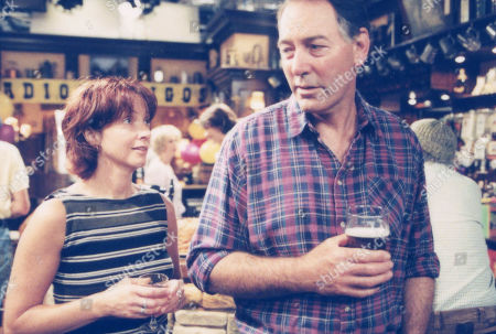 Ep 2737 Tuesday 22nd August 2000 Jack and Sarah have another confrontation in the Woolpack - With Jack Sugden, as played by Clive Hornby ; Sarah Sugden, as played by Alyson Spiro.