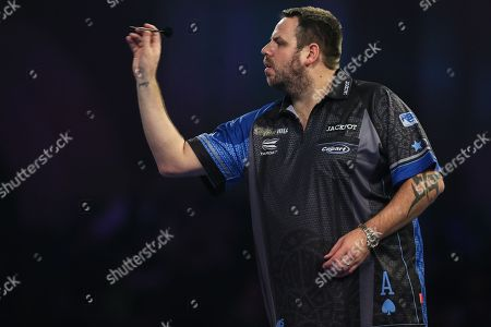 Adrian Lewis during the World Darts Championships 2018 at Alexandra Palace, London