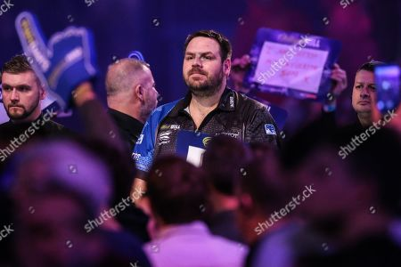 Adrian Lewis during the walk-on during the World Darts Championships 2018 at Alexandra Palace, London