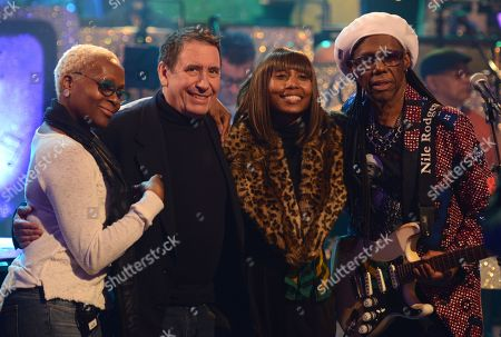 Jools Holland with Nile Rodgers and members of Chic