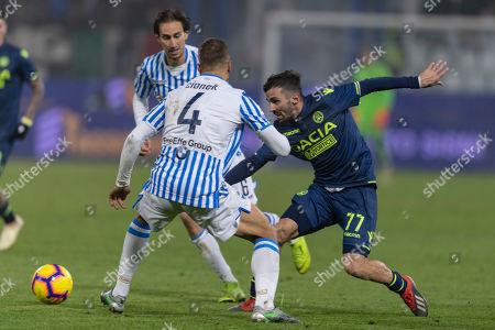 Marco D Alessandro (Udinese) Thiago Rangel Cionek (Spal) Simone Missiroli (Spal)