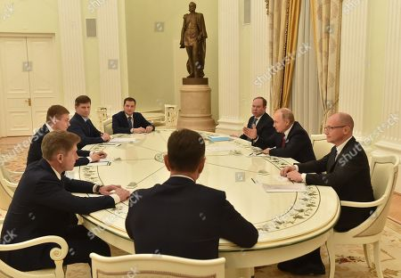 Editorial picture of President Vladimir Putin meets elected heads of Russian regions, Moscow, Russia - 27 Dec 2018