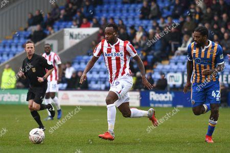 Saido Berahino (19) of Stoke City during the game at New Medow .