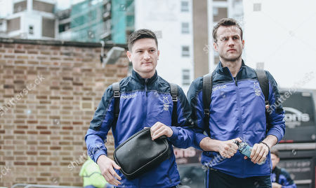 Joe Lolley and Luke Steele arrive at The City Ground