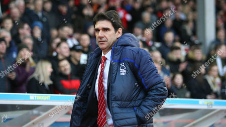 Aitor Karanka walks out to a warm reception from the City Ground crowd before kickoff