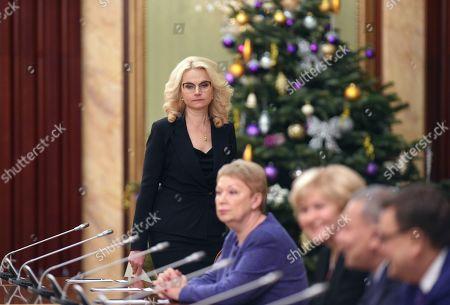 Deputy Prime Minister Tatyana Golikova (left) before the meeting.