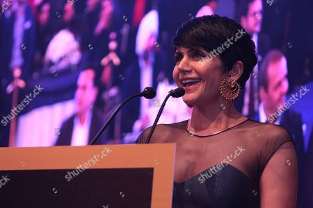 Stock Photo of Bollywood actress Mandira Bedi during the launch and success party of India's first luxury retail destination 'Elan Epic' at The Ritz