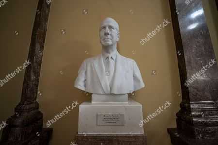 A bust of Spiro Agnew, the 39th vice president of the United States, is displayed outside the U.S. Senate as part of the Senate's Vice Presidential Bust Collection, at the Capitol in Washington, . Agnew was vice president under Richard Nixon from 1969 until a scandal forced his resignation in 1973
