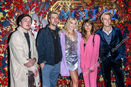 Ellington Ratliff, Rocky Lynch, Rydel Lynch, Savannah Latimer and Riker Lynch