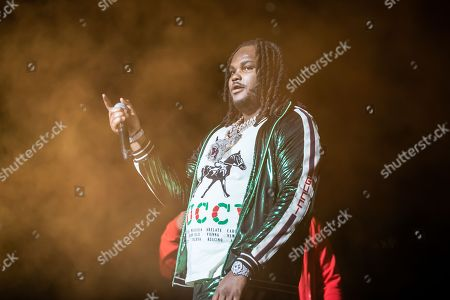Editorial image of Tee Grizzley in concert at Little Caesar's Arena, Detroit, USA - 27 Dec 2018