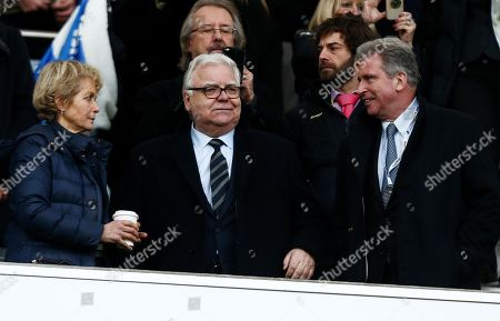 Everton Chairman Bill Kenwright is seen in the stands.