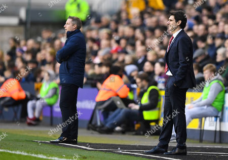 Aitor Karanka manager of Nottingham Forest  and Neil Harris manager of Millwall