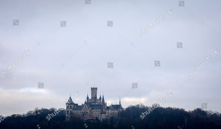 A view of Marienburg castle near Pattensen, northern Germany, 29 December 2018. The castle, built by King George V of Hanover between 1858 and 1869, is now owned by Ernst August Prince of Hanover who wants to sell it to the state in 2019 for a symbolic Euro, according to media reports.