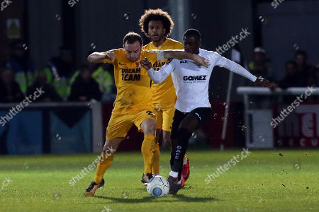 O's Charlie Lee & Nortei Nortey during Dover Athletic vs Leyton Orient, Vanarama National League Football at the Crabble Athletic Ground on 29th December 2018