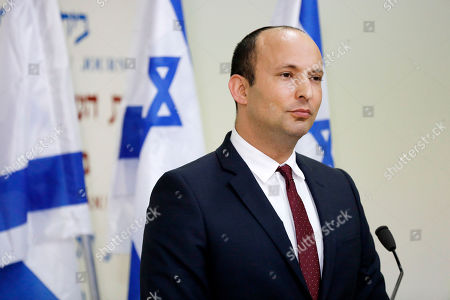 Israeli Minister of Education Naftali Bennett announces his retirement from the The Jewish Home party during a joint press conference with Minister of Justice Ayelet Shaked (not pictured) in Tel Aviv, Israel, 29 December 2018. The two said they are forming a new right-wing party, the 'New Right' to run in the 2019  elections. According to reports, the heads of the coalitions at the Israeli parliament agreed on 24 December to dissolve the Israeli parliament and go to early elections on 09 April 2019.