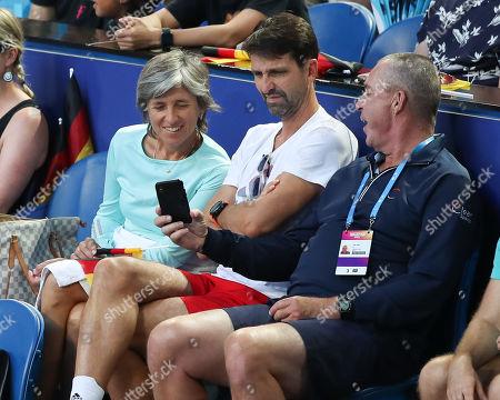 Alexander Zverev's Team- Ivan Lendl, Hugo Gravil and Irina Zverev
