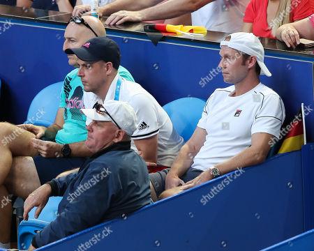 Team Germany- Rainer Schuettler, Physio Andre Kreidler, Jez Green and Vater Alexander Zverev senior