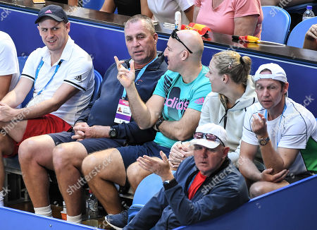 Ivan Lendl and Angelique Kerber in the players box