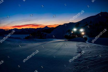 Editorial image of Ski slopes in Villars-sur-Ollon, Switzerland - 29 Dec 2018