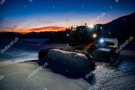 Editorial photo of Ski slopes in Villars-sur-Ollon, Switzerland - 29 Dec 2018