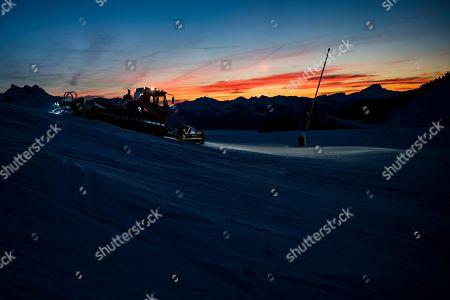 Editorial picture of Ski slopes in Villars-sur-Ollon, Switzerland - 29 Dec 2018