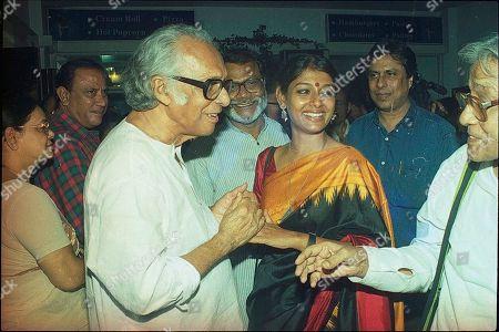 Mrinal Sen and Nandita Das