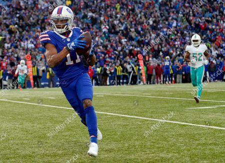 14bf05428d4 Buffalo Bills wide receiver Zay Jones runs toward the end zone for a 26-yard
