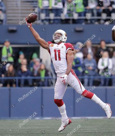 Arizona Cardinals  Larry Fitzgerald (11) just misses a catch against the  Seattle Seahawks ... 781260a03