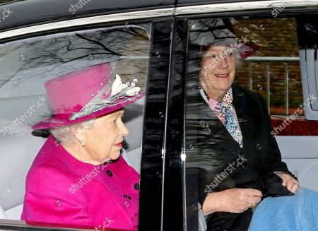 Queen Elizabeth II attends St Mary Magdalene Church, Sandringham