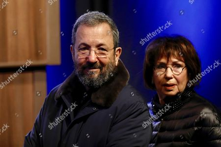 Former Israeli prime and defense minister Ehud Barak (L) and his wife Nili Priel attend a memorial service for Israeli author Amos Oz at the Tzavta Theater in Tel Aviv, Israel, 31 December 2018. Amos Oz, an award-winning Israeli writer, published 40 books in his career and his works have been translated into 45 different languages. Oz died at the age of 79 after suffering from cancer on 28 December 2018.