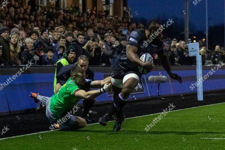Vereniki Goneva, Newcastle Falcons scoring a try