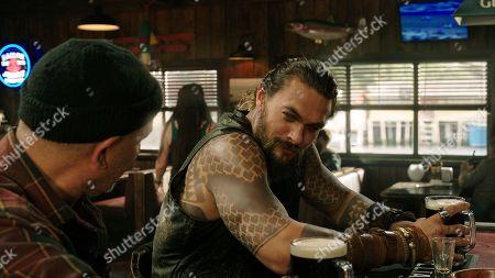 Temuera Morrison as Tom Curry and Jason Momoa as Aquaman