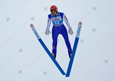 David Siegel of Germany in action during the second stage of the 67th Four Hills Tournament in Garmisch Partenkirchen, Germany, 31 December 2018.