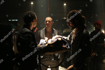 Stock Image of Trey Songz as Sonny and Jack Kesy as Jake Banning and Tim J. Smith as Maurice
