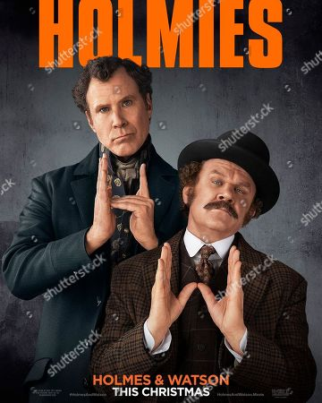 Holmes & Watson (2018) Poster Art. Will Ferrell as Holmes and John C Reilly as Watson